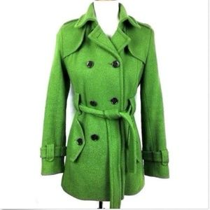 Calvin Klein women's wool coat small 4 peacoat